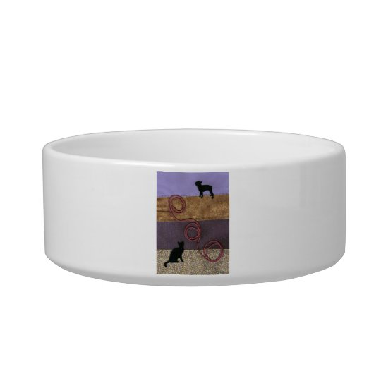 Purple Dog and Cat Fun Bowl
