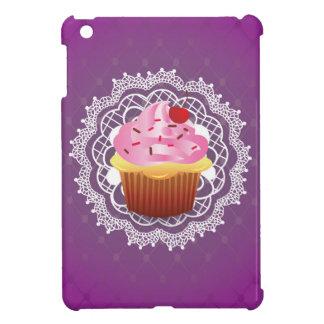 Purple Doilies and Cupcake Cover For The iPad Mini