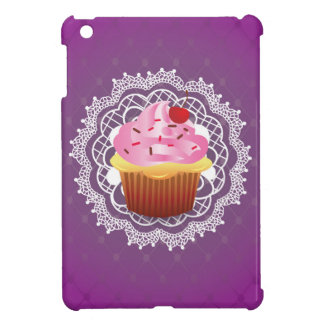 Purple Doilies and Cupcake Cover For The iPad Mini