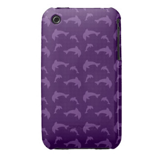 Purple dolphin pattern iPhone 3 cases