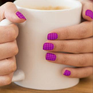 Purple dot minx nail wraps