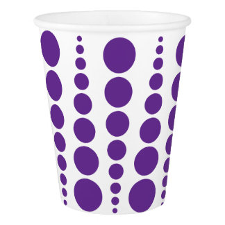 PURPLE DOT PRINT. CUSTOMIZABLE BACKGROUND PAPER CUP