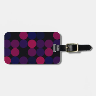 Purple Dots Luggage Tag