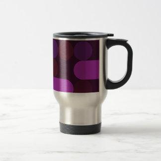 purple dots travel mug
