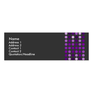 Purple Dotted Profile Cards Pack Of Skinny Business Cards