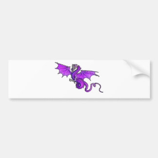 Purple Dragon Bumper Sticker
