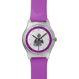 Purple dragon cartoon Watch
