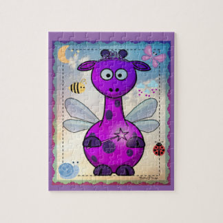 Purple Dragon Fairy Jigsaw Puzzle