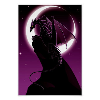 Purple Dragon Poster