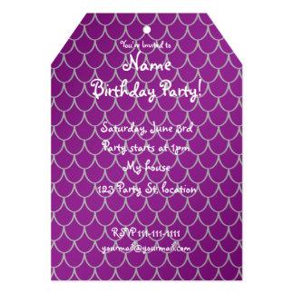 Purple dragon scales 5x7 paper invitation card