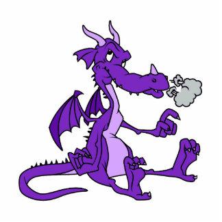 Purple Dragon Sitting Standing Photo Sculpture