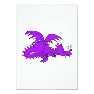 Purple Dragon Sleeping.png 13 Cm X 18 Cm Invitation Card
