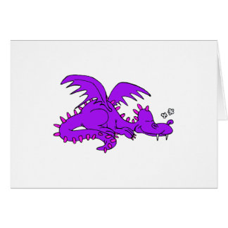 Purple Dragon Sleeping.png Greeting Card