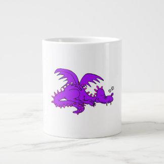 Purple Dragon Sleeping.png Jumbo Mug