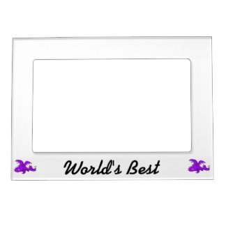 Purple Dragon Sleeping.png Magnetic Picture Frame