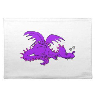 Purple Dragon Sleeping.png Place Mats