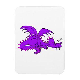 Purple Dragon Sleeping.png Rectangle Magnets