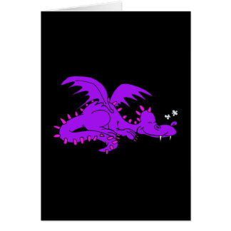 Purple Dragon Sleeping.png Stationery Note Card