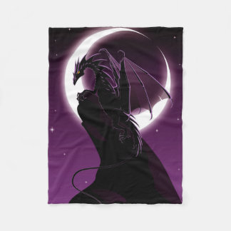 Purple Dragon Small Fleece Blanket