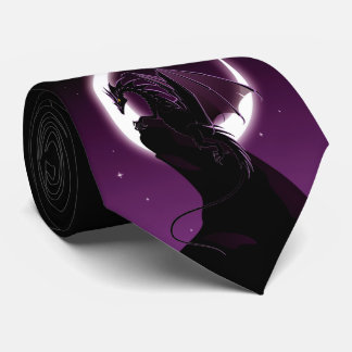Purple Dragon Tie