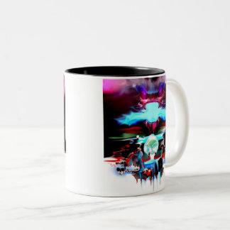 purple dragon Two-Tone coffee mug