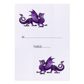 Purple Dragon Wedding Place Card Pack Of Chubby Business Cards