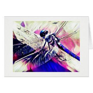 Purple Dragonfly Card