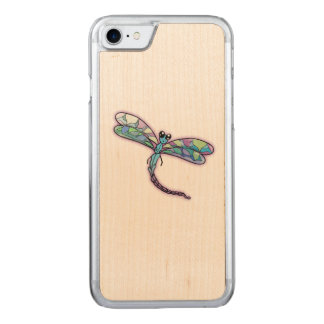 Purple Dragonfly Carved iPhone 8/7 Case