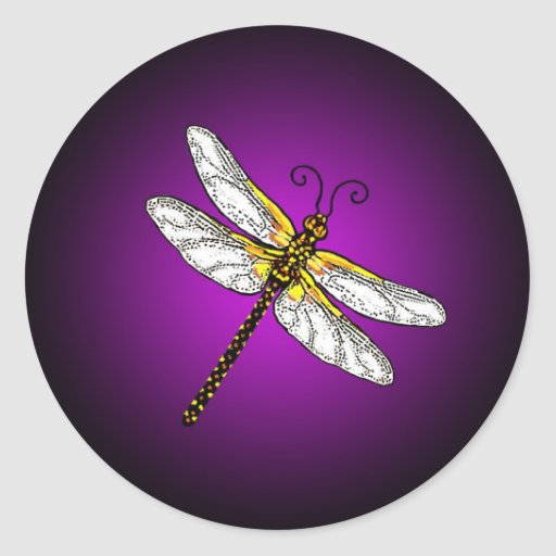 Purple Dragonfly Dragonflies  Stickers