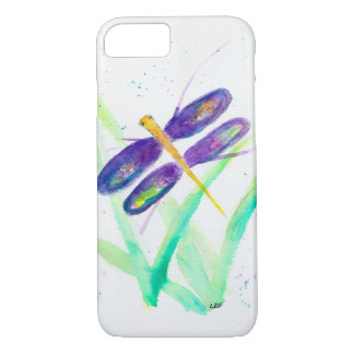 Purple Dragonfly iPhone 7 case