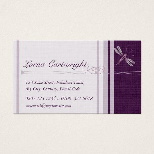 Purple Dragonfly Personal Cards