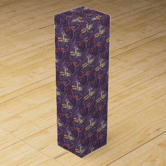 purple dragonfly wine box