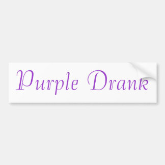 Purple Drank Bumper Sticker