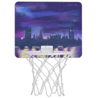 Purple Dreams of London at Night Mini Basketball Hoop
