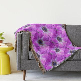 Purple dreams throw blanket
