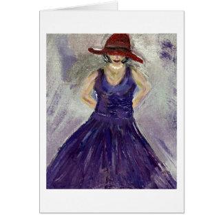 Purple Dress Note Card