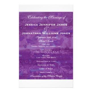 Purple Drizzle Wedding Programs 14 Cm X 21.5 Cm Flyer