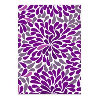 Purple Droplet Pattern 9 Cm X 13 Cm Invitation Card
