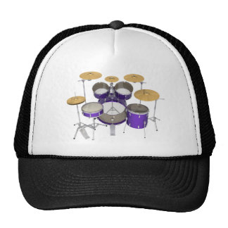 Purple Drum Kit: Mesh Hats