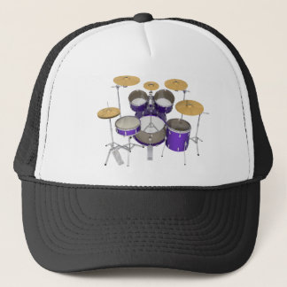 Purple Drum Kit: Trucker Hat