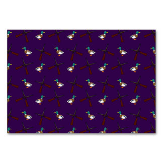 purple duck hunting pattern table card