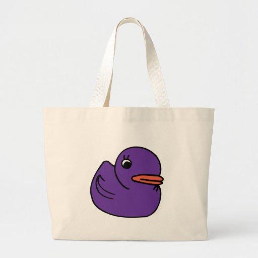 Purple Ducky Tote Bag