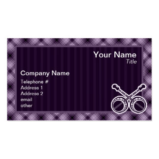 Purple Dueling Banjos Business Cards
