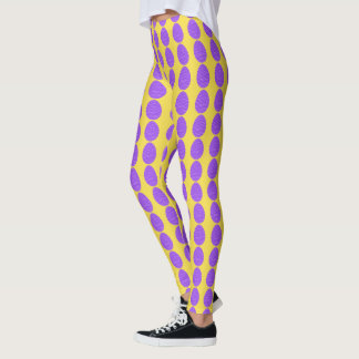 Purple Easter Eggs Leggings