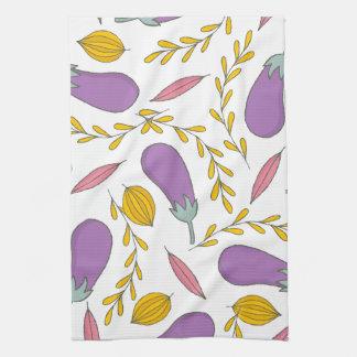 Purple Eggplant Tea Towel