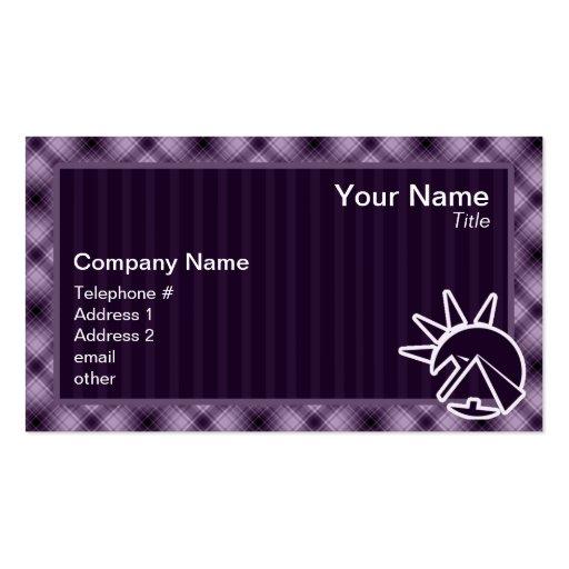 Purple Egyptian Pyramid Business Card Template