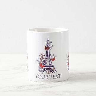 Purple Eiffel Tower Butterflies mug