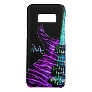 Purple Electric Guitar Monogram Case-Mate Samsung Galaxy S8 Case