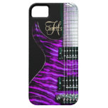 Purple Electric Guitar Monogram iPhone Case iPhone 5 Cases