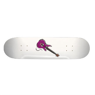 purple electric guitar music graphic.png 18.1 cm old school skateboard deck